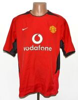 MANCHESTER UNITED 2002/2004 HOME FOOTBALL SHIRT JERSEY NIKE SIZE L ADULT