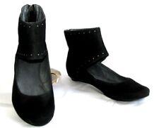 BOCAGE Bailarinas polainas en piel terciopelo negro número 40 NUEVO