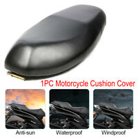 L Size Black Motorcycle Seat Cushion Cover Waterproof Universal Accessories