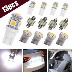 13x LED Lights Kit for Dome License Plate Lamp Bulbs Interior Car Accessories