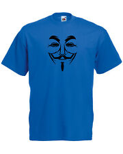 Guy Fawkes V For Vendetta Anonymous Graphic Quality t-shirt tee mens unisex