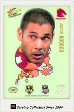 *2008 Select NRL Champions Superstar Acetate Gem Card GC1 Justin Hodges
