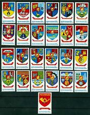 1977 Coat of Arms of Romanian Counties II,Kreise Wappen,Romania,3442,25 val,MNH