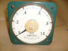 Large Ge General Electric 8db Panel Meter Dc Amperes 0 1