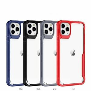 For iPhone 7/8/Plus/X/XS/XR/SE/11/12/Mini/Pro/Max Shockproof Clear Case Cover