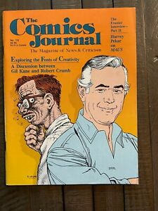 The Comics Journal #113-1986-Gil Kane and R. Crumb interviewed together!