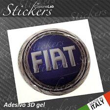 1 Adesivo Stickers Logo FIAT 1999 > 2001 resinato 3D 70 mm auto