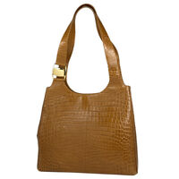 Salvatore Ferragamo Vala Shoulder Bag Embossed shoulder tote Shoulder Bag le...