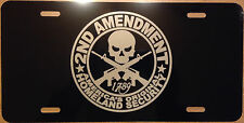 Auto License Plate 2nd Amendment Americas original homeland security  car truck