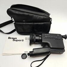 Vintage Braun Nizo Integral 5 Super8 Cine Film Camera & User Manual [Untested...