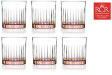 RCR 26322020006 Gipsy Crystal Short Whisky Water Tumblers Glasses 360 Ml 2nds