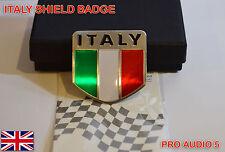 Italia Escudo Insignia-Aluminio Cepillado italiano de automóviles van Camión Fiat Vespa Alfa del Reino Unido
