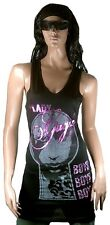 WoW AMPLIFIED LADY GAGA Boys Strass Design ViP Tank Top Mini Kleid Dress S 36/38