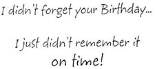 Unmounted Rubber Stamps, Belated Birthday, Stamps for Birthday Cards, Sayings