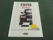 Bonificación de Ford Fiesta 1988 de junio de 950 EDICIÓN ESPECIAL FOLLETO de carpeta de Reino Unido-FA843