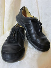 WOMEN'S UNSTRUCTURED CLARKS BLACK LEATHER ATHLETIC SNEAKER SIZE 8 M  427
