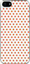 iPhone 5 Small White and Orange Polka Dot Design Sticker on Hard Case Cover