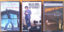 BILLY JOEL x THREE cassette albums, authentic originals, only 1 careful owner