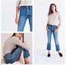 MADEWELL Cali Demi Boot Jeans Chewed Hem Edition, High Rise, Size 23