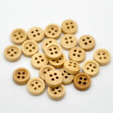 100PCs New Holes Round Wood Sewing Buttons 11mm