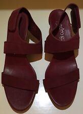 NEW Pedro Garcia Wisal Burgundy Suede Sandals Heels Women Size 39