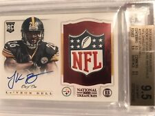 Le'Veon Leveon Bell 2013 National Treasures 1/1 NFL Shield Rookie Patch Auto GEM