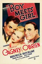 BOY MEETS GIRL VINTAGE ONE SHEET MOVIE POSTER JAMES CAGNEY 1938