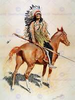 PAINTING CULTURAL AMERICA REMINGTON SIOUX CHIEF ART PRINT POSTER LAH216