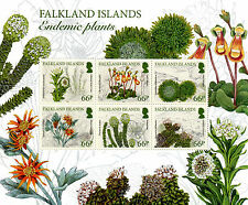 Falkland Islands 2016 MNH Endemic Plants 6v M/S Lady's Slipper Flowers Stamps