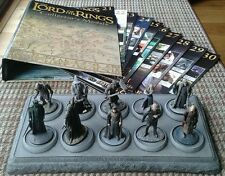 LOTR Collectors Models Issues #21-30 Inc Mags Binder & Base Eaglemoss LOT of 10