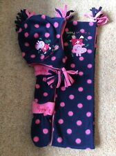 Marks And Spencer Peppa Pig Scarf Hat And Mittens Baby Girl Age 18/24 Months