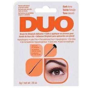 Ardell Duo Brush on Strip False Eyelash Adhesive Glue Dark Tone 5g UK