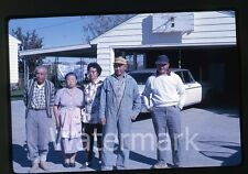 1962  kodachrome Photo slide Japanese family in front of house Oregon
