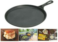 Cast Iron Pan For Pancakes LODGE Pizza Dosa Eggs Oven Gas Stove Flat Griddle