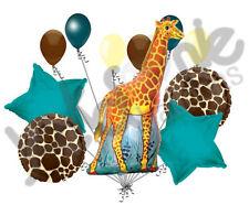11 pc Giraffe Balloon Bouquet Decoration Happy Birthday Jungle Zoo Party Safari