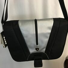 Lamborghini Messenger Bag Asus Automobili Black Adjustable New NWT Laptop Logo