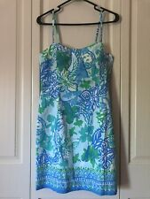 Lilly Pulitzer Shelli Stretch Dress Whisper Blue Size Medium NWT!!