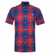 Fred Perry Short Sleeve Checked Casual Shirts & Tops for Men