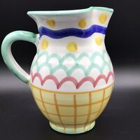 VINTAGE SOLIMENE VIETRI CAMPAGNA MADE IN ITALY ITALIAN ART POTTERY PITCHER
