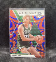 Larry Bird Blue Reactive Mosaic Prizm 2020 Panini Hall Of Fame #290 Celtics