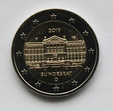 GERMANY - 2 € commemorative euro coin 2019 - Bundesrat (UNC coin from roll)