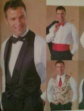 McCalls Sewing Pattern 4321 Mens Vest Bow Tie Cummerbund Uncut Size XL-XXL