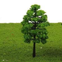 LN_ 20 MODEL TREES TRAIN RAILROAD DIORAMA WARGAME PARK SCENERY OO SCALE 1:100