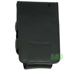 Genuine Blackberry Black Wallet Case Top Flip Cover Pouch For Curve 8500 NEW