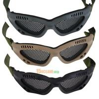Tactical Airsoft Outdoor Steel Mesh Eyes Protective Goggles Glasses Eyewear #ORP