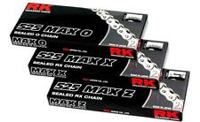RK Chain 525 MAX-X RX-Ring Sealed Motorcycle Chain 120 Gold 525MAXX-120-GG