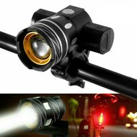 USB Rechargeable 15000LM T6 LED Bicycle Rear&Front Set Lights MTB Bike Headlight