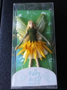 FAIRY AND ELF COLLECTION by Tassie Designs XMAS Ornaments - Summer Fairy- Yellow