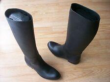 $1500 Prada Boots Riding Forest Green Saffiano Leather Smeraldo 39.5 US 9.5 9