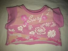 Build a Bear Pink/White 'Surf' Camo Top with Flowers and Palm Tree